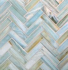 interior lunada bay tile agate glass 1 x 4 herringbone lucca silk