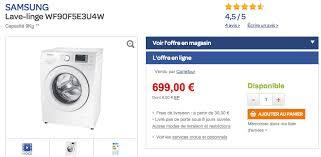 lave linge haut de gamme samsung eco à 399 au lieu de 699