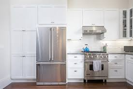 Stainless Steel Appliances And White Craftsman Cabinets In Our Church Street Kitchen Remodel