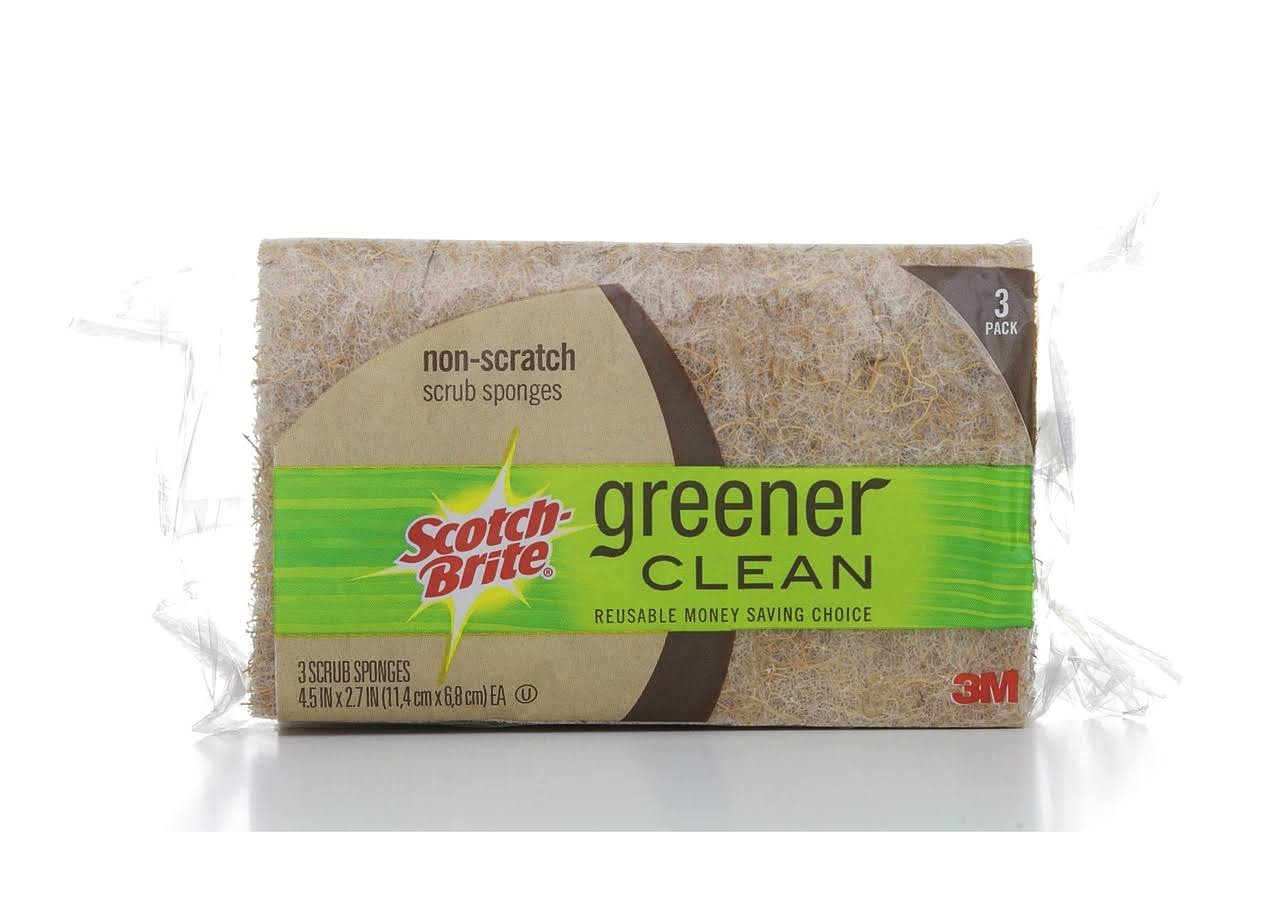 Scotch-Brite Greener Clean Natural Fiber Scrub Sponge - 3pk