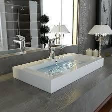 waschbecken gäste wc eckig waschtisch aufsatzbecken badmöbel
