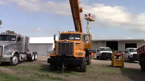 National Crane Boom Truck - YouTube