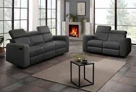 home affaire polstergarnitur sentrano set 2 tlg bestehend aus dem 2 und 3 sitzer wählbar zwischen manueller oder elektrischer relaxfunktion