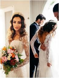 long sleeved wedding dresses real brides in sleeved dresses