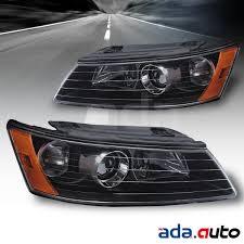 2006 2007 2008 hyundai sonata factory style black headlights