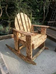 Repurposed Antique Styled Scorched Pallet Rocking Chair