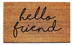 Hello Friend Doormat Urban Owl