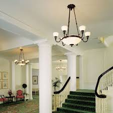ClassicalTM 6 Arm Medium Alabaster Chandelier With 2 1 4 In Shade