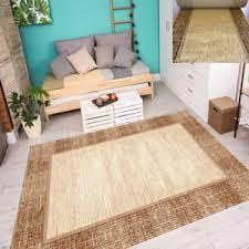 details zu teppich klassisch mediterran warme farben umrandung wohnzimmer beige 7 größen