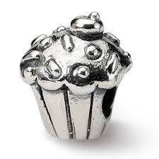 Shop Sterling Silver Reflections Kids Cupcake Bead 4mm Diameter Hole