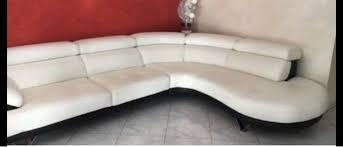 dickleder sofa weiß schwarz