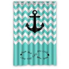 Blue Chevron Bathroom Set by Custom Special Amazing Chevron Anchor Pattern Print With Navy Blue