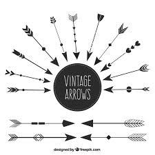 Set Of Ethnic Vintage Arrows Free Vector