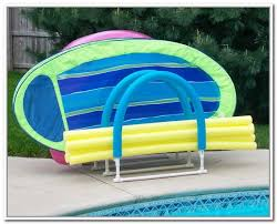 Pool Float Storage Rack With Outdoor Storage Solution And Pool
