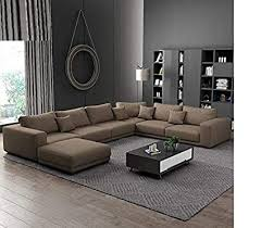 104 Modren Sofas Best Furniture Wood Simple Modern Designs Couch Living Room U Shaped 7 8 9 Seater Fabric Sofa Set Brown Amazon In Furniture