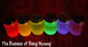 The Business Of Being Mommy RAINBOW GLOW JARS