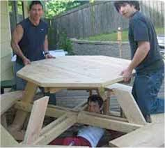 for future design knowing wooden picnic table plans octagon