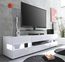wohnzimmer tv lowboard sonic glanz weiß 169 x 43 cm inkl panorama vitrinen