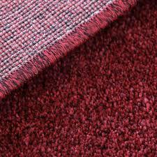 80x150 cm hochwertiger kurzflor wohnzimmerteppich dunkel rot gepunktet my181k