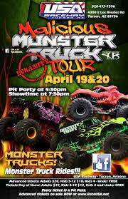 100 Monster Trucks Tucson MALICIOUS MONSTER TRUCK TOUR INVADES USA RACEWAY USA Raceway
