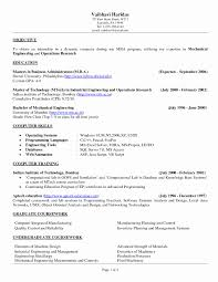 Resume Objective Examples For A Welder Elegant Samples Production Engineer New