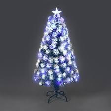 90cm Siberian Fibre Optic Christmas Tree Blue White LED Lights