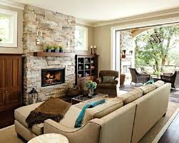 Fireplace Room Ideas Living With Stone Cozy Nature Inspired Home