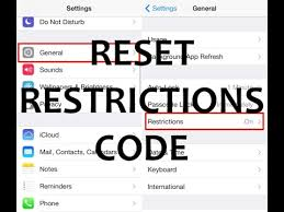 How to Reset Unlock Remove iPhone Restrictions Code No