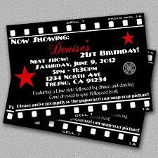Invitation Ideas Hollywood Themed Birthday Party Invitations