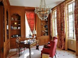 Reat Design Victorian Country Office Decor With Beautiful Chandelier