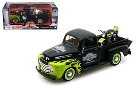 100 Ford F1 Truck 1948 Pick Up Black Green FL Panhead Harley