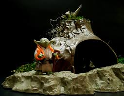 Star Wars Fish Tank Decorations by Star Wars Dagobah Hut Diorama Scene Youtube