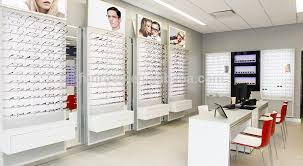 Chinese Factory Optical Retail Wooden Display Rack With Shelves