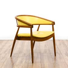 Equipale Chairs San Diego by Mid Century Modern Yellow Vinyl Barrel Chair Loveseat Vintage