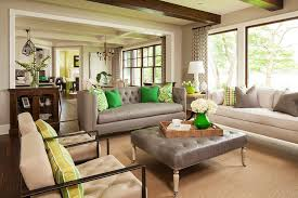 Transitional Living Room Leather Sofa by Coastal Chic Apartment Easy Decor Ideas Apartment Rental Beach