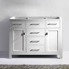 48 Cabinet With Drawers by Virtu Usa Ms 2048 Cab Wh Caroline 48 In Bathroom Vanity Cabinet