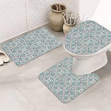 badezimmer set rutschfeste badematte und wc vorleger set