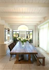 Extra Long Dining Room Table With Bench And