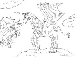 Unicorn With Wings Coloring Pages Of Unicorns And Flying