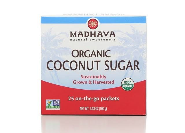 Madhava Naturally Sweet Organic Pure and Unrefined Coconut Sugar - 25ct, 3.53oz