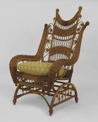 100 High Back Antique Chair Styles American Victorian Natural Wicker Ornate High Back Platform Rocking