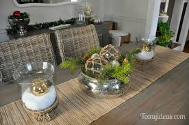 Christmas Centerpieces For Dining Room Tables by Christmas Home Tour Part 2 Teeny Ideas