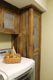 Rustic Tall Storage Reclaimed Barn Wood Cabinet W Tin Doors Unfinished 8425