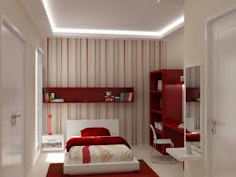 Girl Bedrooms Pictures Red And White Theme Decorate Kid Bedroom Also Library Desk Plus Single Low Profile Bed