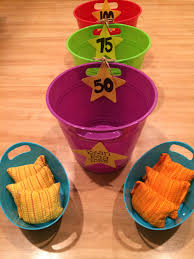 Homemade Bean Bag Toss Game All From The Dollar Store 3 Buckets Or Bowls