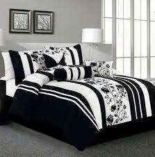 Black And White Bedding Twin Xl on Bedroom Design Ideas with High