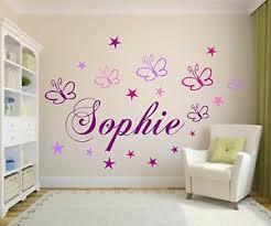 deko wandtattoos wandbilder mit namen fürs schlafzimmer