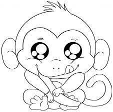 Ba Monkey Coloring Pages With Regard To Baby