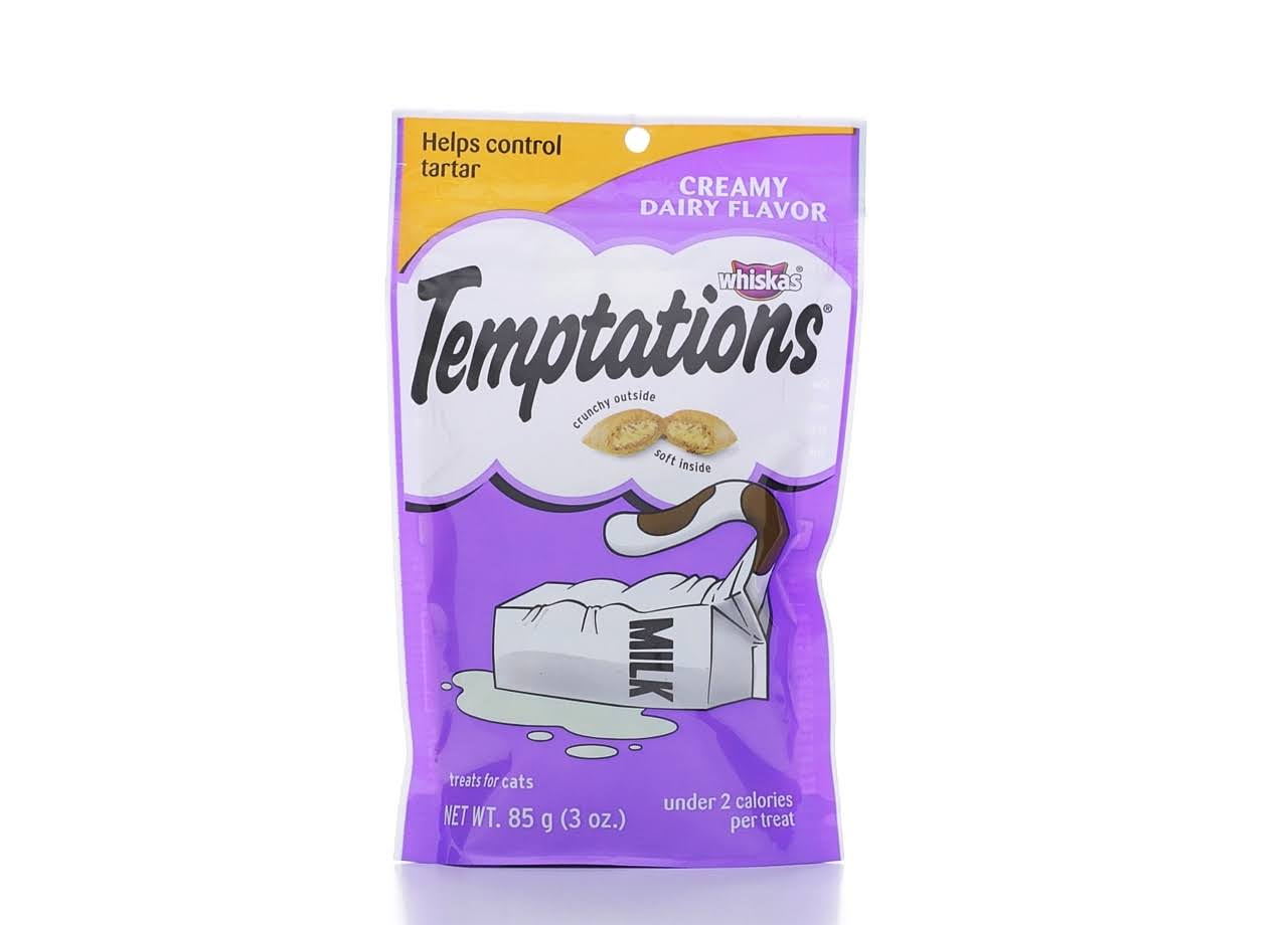 Whiskas Temptations Cat Treats - Creamy Dairy Flavor, 3oz