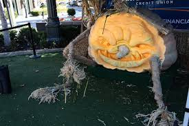 Largest Pumpkin Ever Carved by America First Credit Union U0027s Zach Winegar Carved Record Breaking